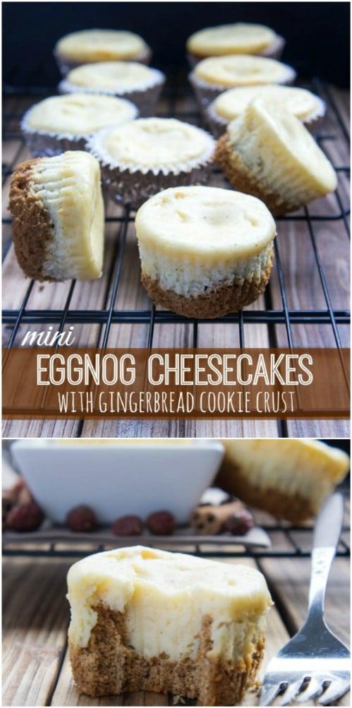 Eggnog And Gingerbread Cheesecake
