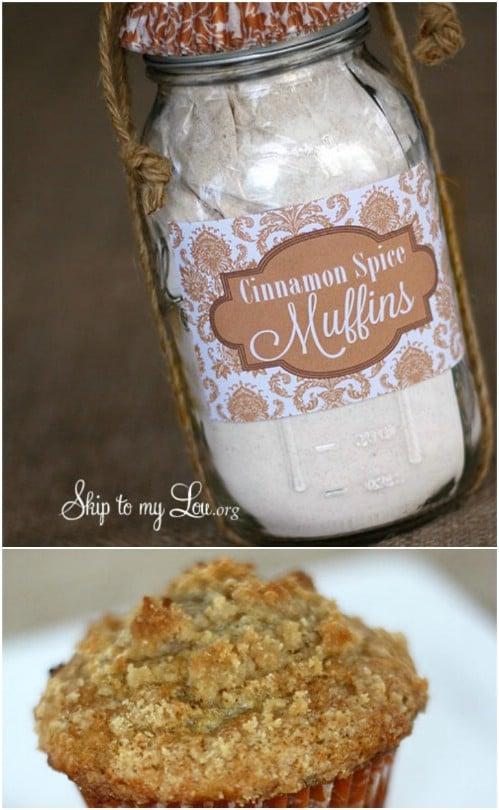 Cinnamon Spice Muffins In A Jar