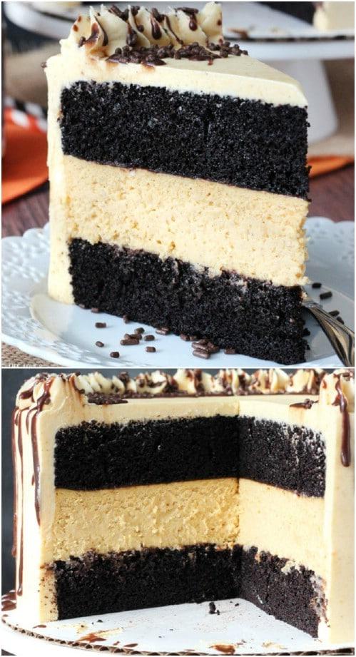 Chocolate Pumpkin Cheesecake
