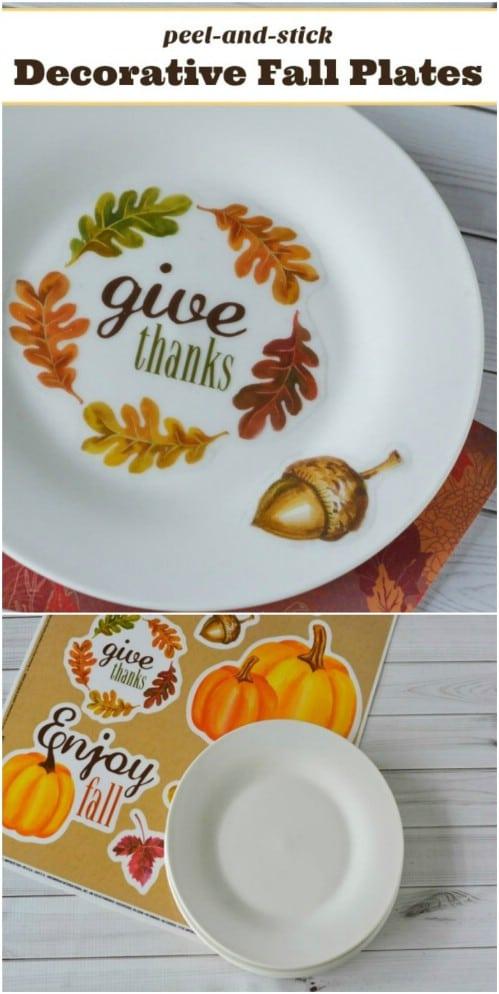 Easy DIY Decorative Fall Plates