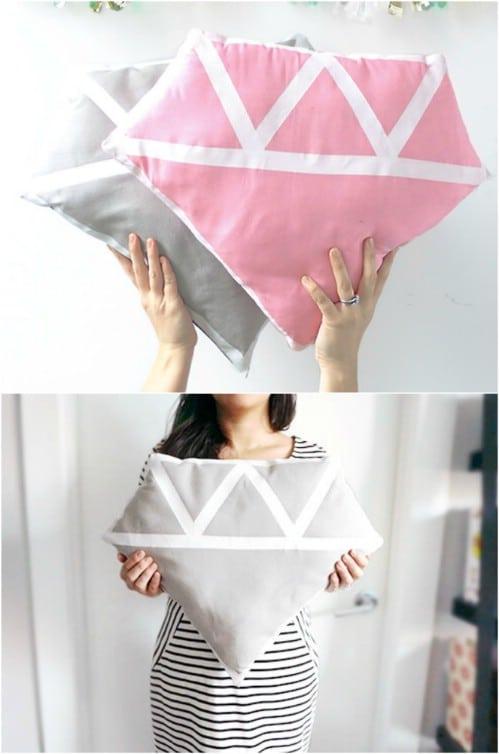 Diamond Shaped Pillows