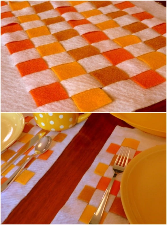 No Sew Felt Thanksgiving Placemats