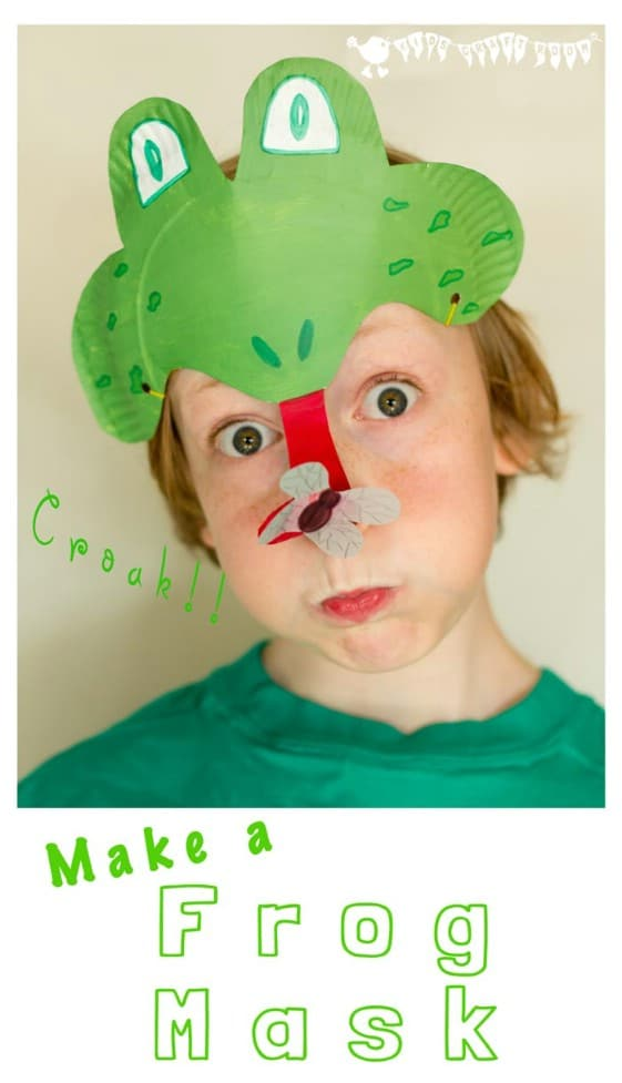 Cute DIY Kid's Frog Mask