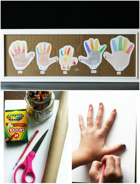 Handprint Turkey Family Art