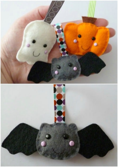 DIY Felt Halloween Ornaments