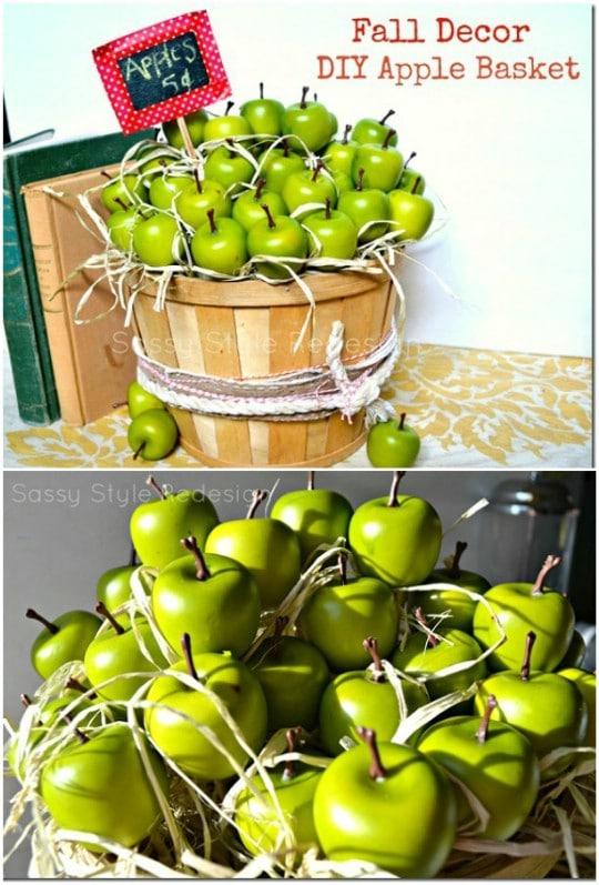 DIY Fall Apple Harvest Décor