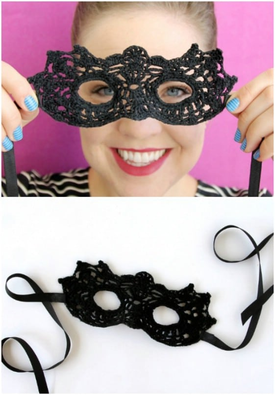 Crocheted Masquerade Mask