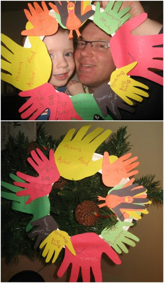 Easy DIY Handprint Wreath