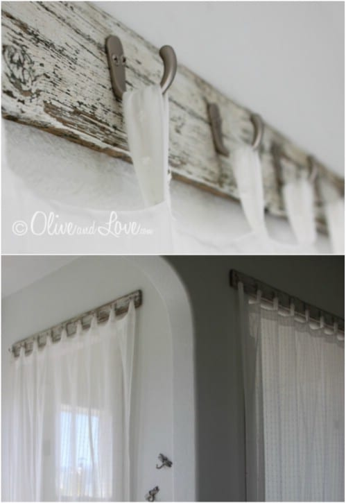 Reclaimed Wood Curtain Rod