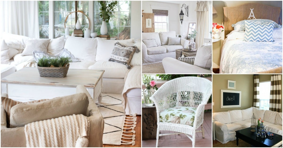 20 Easy To Make Diy Slipcovers That Add New Style Old