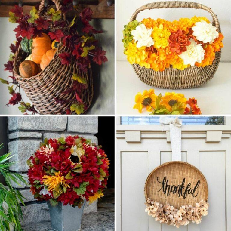 Fall basket decor collage