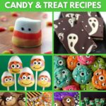 Halloween candy recipe collage