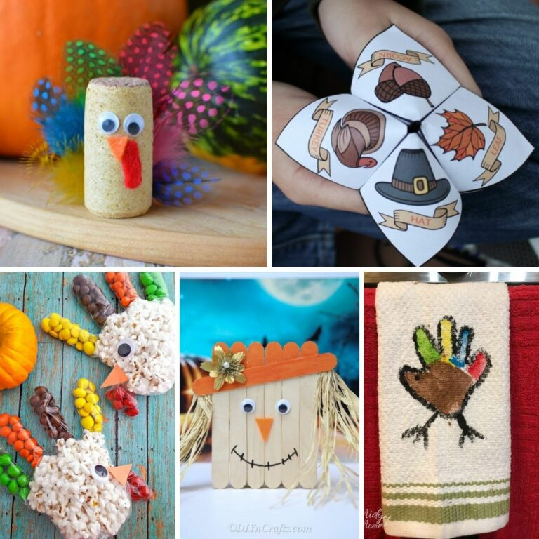 Kids thanksgiving craft collage