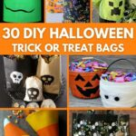Trick or treat bags collage