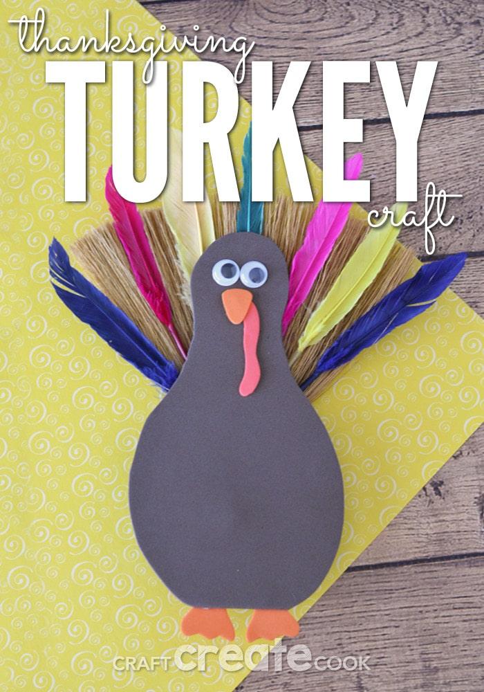 Foam turkey on table
