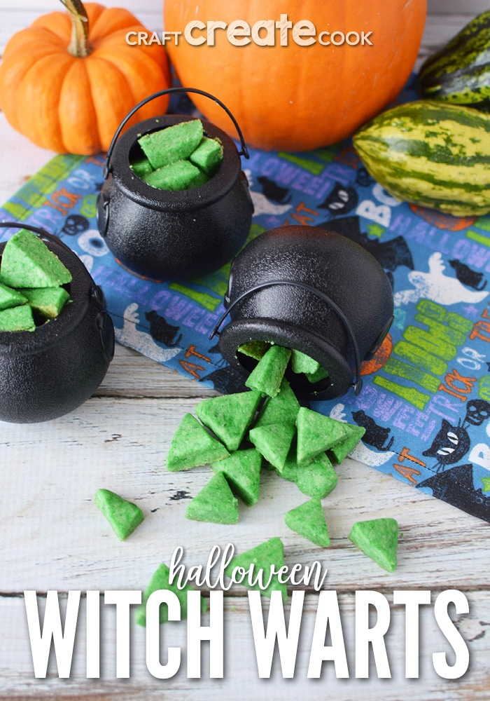 Wart cookies in mini cauldron