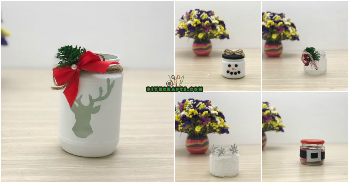 5 Decorative Christmas Jar Projects to Decorate Your Home Frugally