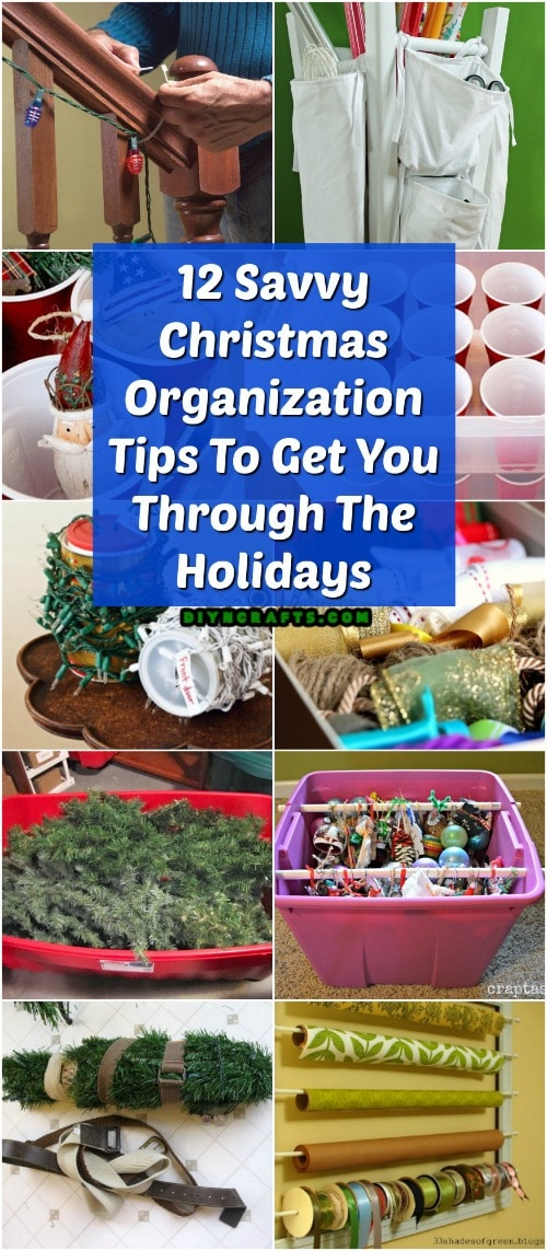 12 Savvy Christmas Organization Tips To Get You Through The Holidays