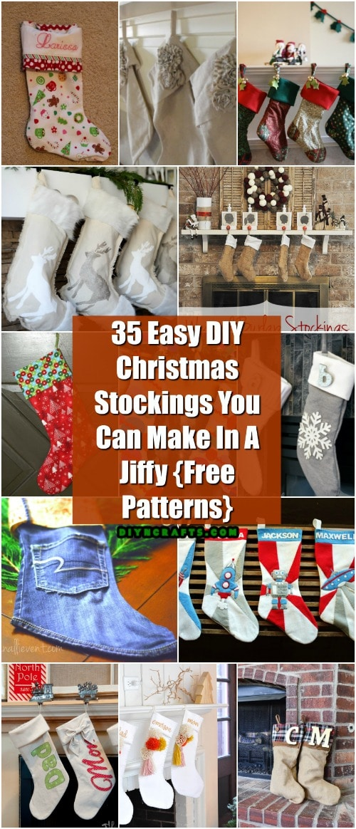 35 Easy DIY Christmas Stockings You Can Make In A Jiffy {Free Patterns}