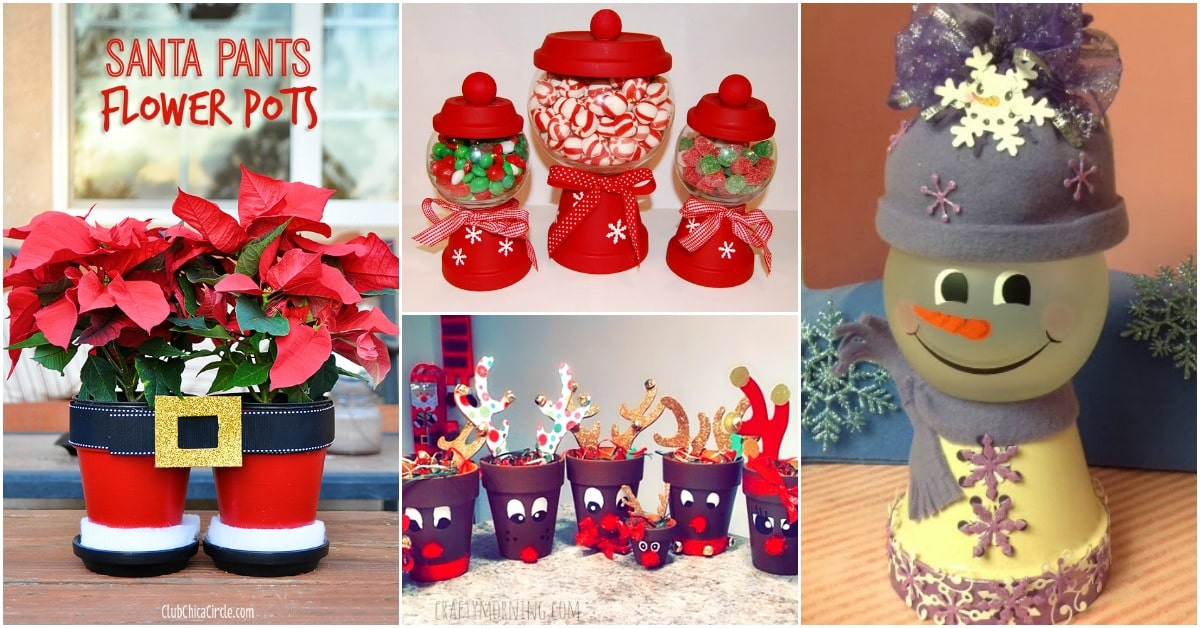 20 Diy Clay Pot Christmas Decorations That Add Charm To Your Holiday