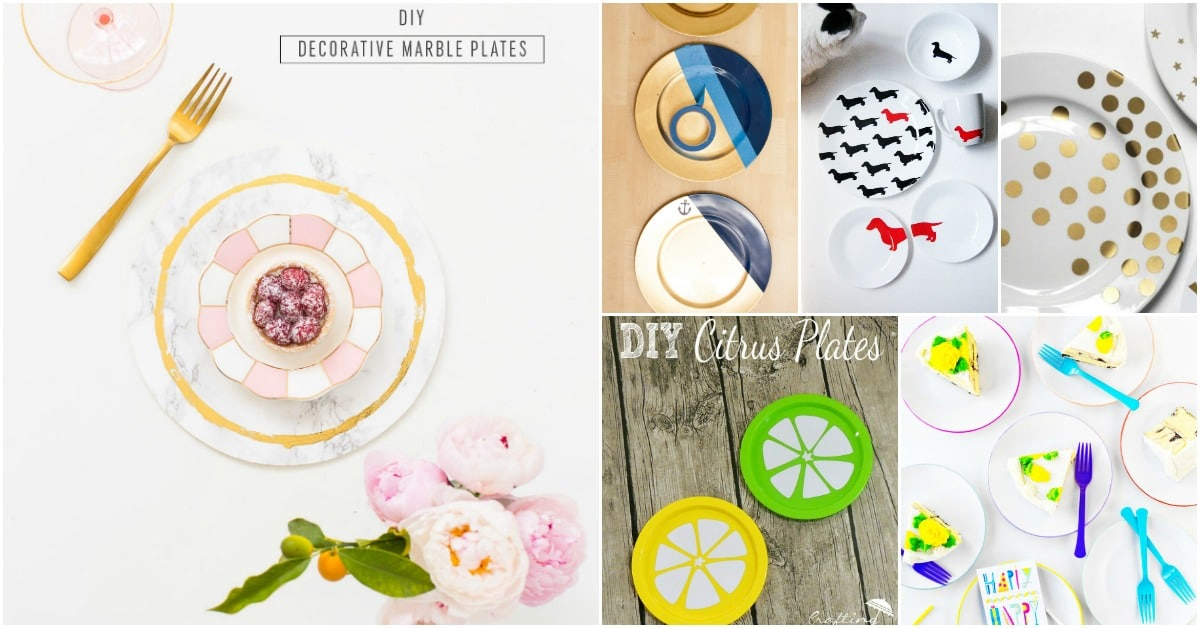 25 Diy Decorative Plates That Give Your Dishes A Hand Painted Look Diy Crafts