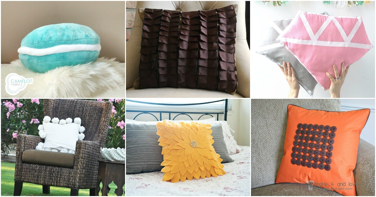 30 Easy Diy Accent Pillows That You Can Make In An Afternoon Diy Crafts