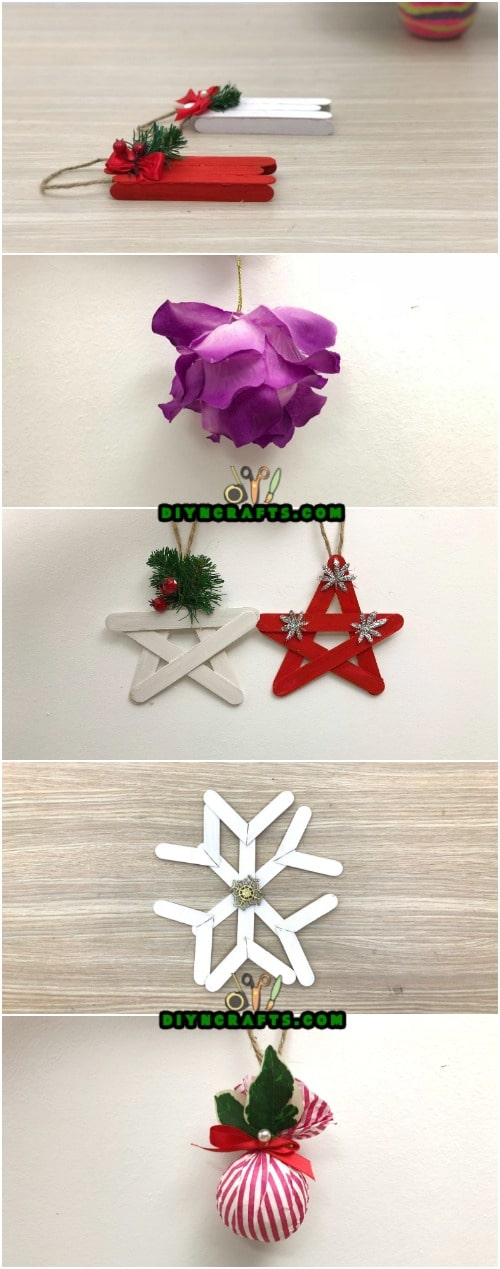 5 DIY Christmas Tree Ornaments You Can Easily DIY {Video Tutorials} Video instructions by DIYnCrafts.com team <3 - In fact, I have an exclusive video for you today. In it, I teach you how to make five different types of DIY Christmas tree ornaments. These crafts are easy enough your children can make their own. #diy #tutorial #christmascrafts #ornaments #handmade #christmasprojects