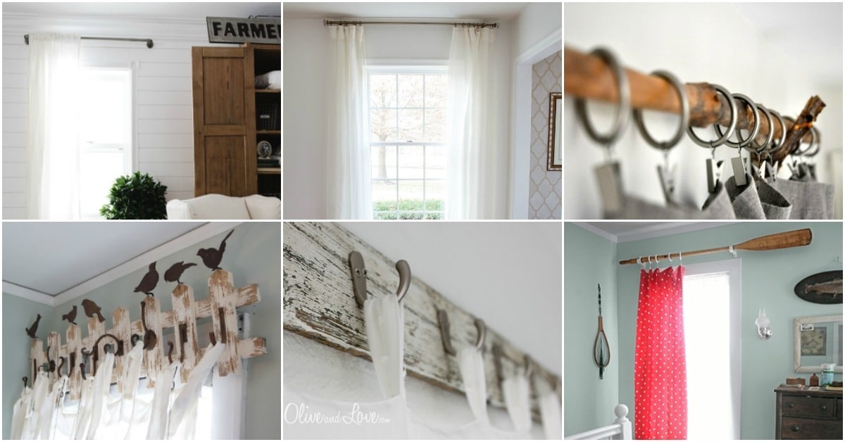 16 Diy Curtain Rods And Hooks That Give You Gorgeous Style On A Budget Diy Crafts