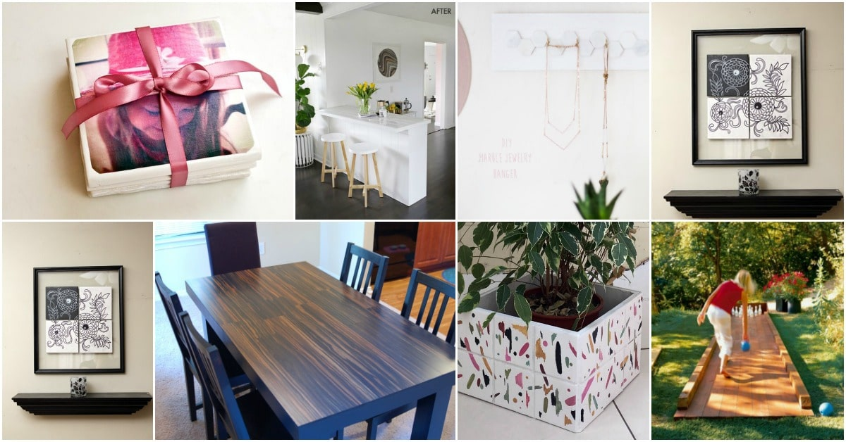 18 Innovative Repurposing Projects To Upcycle Flooring Tiles Diy Crafts