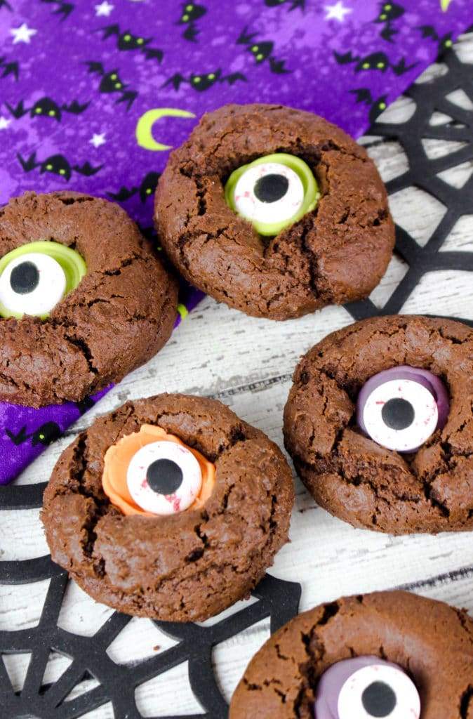 Chocolate cookie with monster eyeball