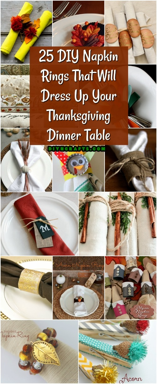 25 Diy Napkin Rings That Will Dress Up Your Thanksgiving