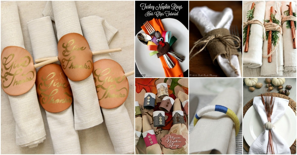 25 Diy Napkin Rings That Will Dress Up Your Thanksgiving Dinner Table Diy Crafts