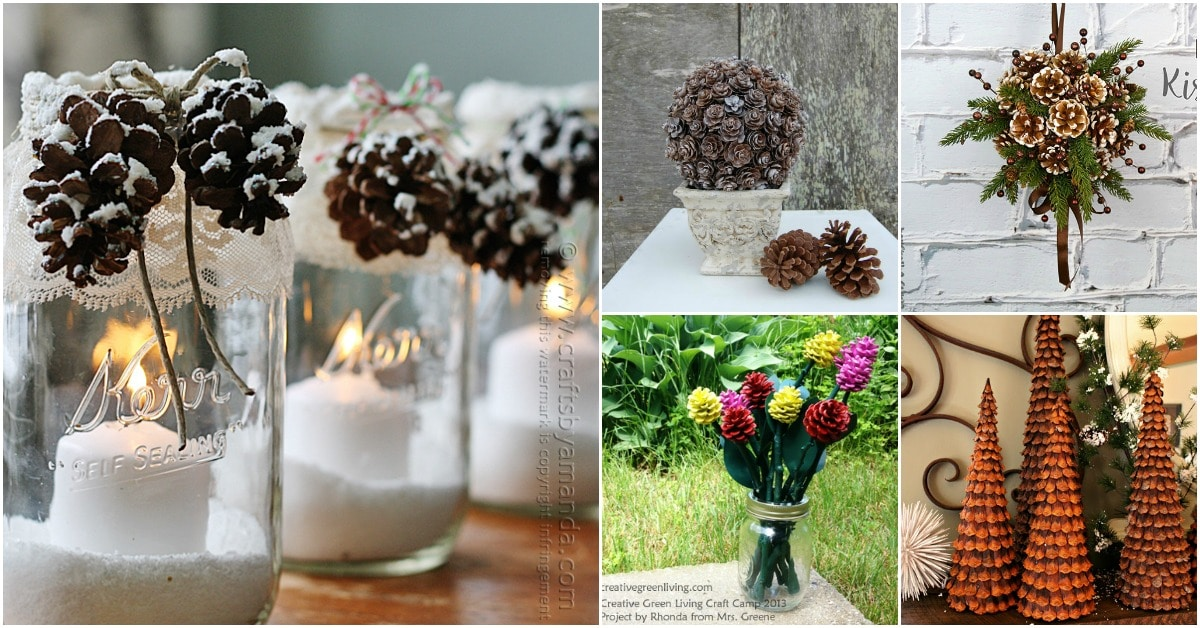 25 Creative Pinecone Crafts That Add Beauty To Your Fall And
