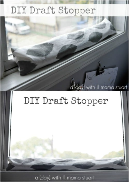 Easy 30 Minute DIY Draft Stopper