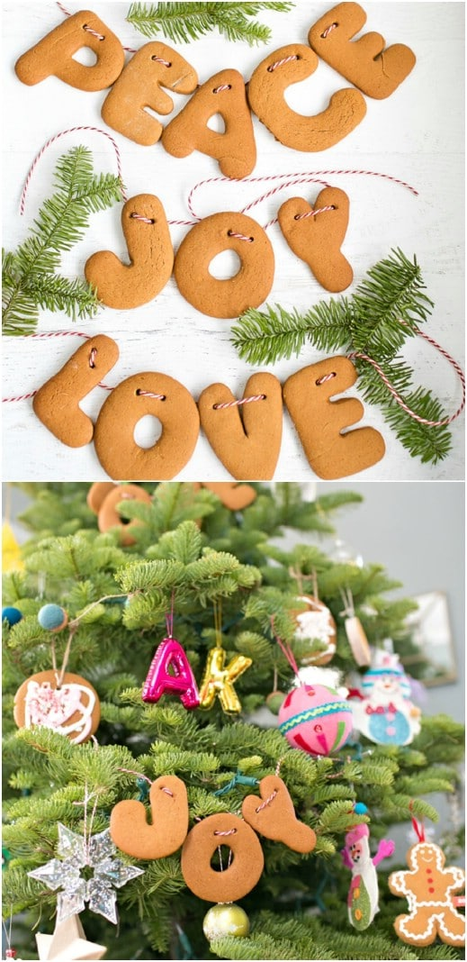 DIY Gingerbread Letter Garland