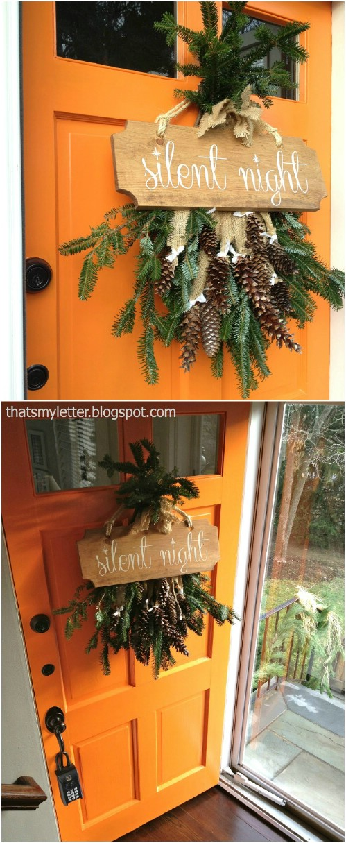 DIY Evergreen Door Décor