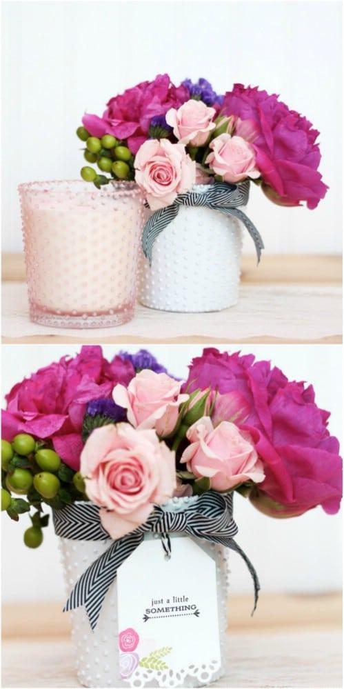 DIY Beaded Glass Vases