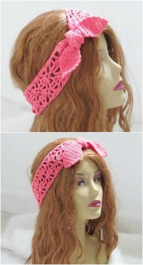 Crochet Boho Headband for Women