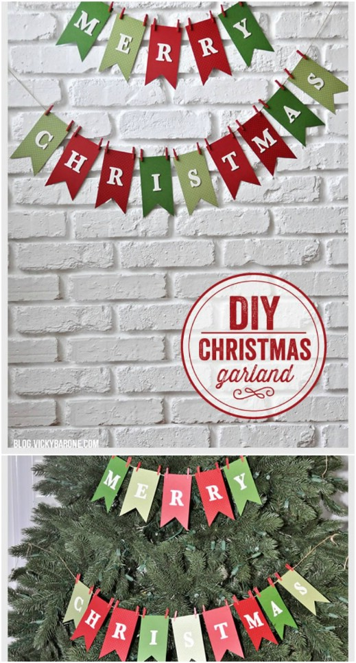 Easy DIY Merry Christmas Garland