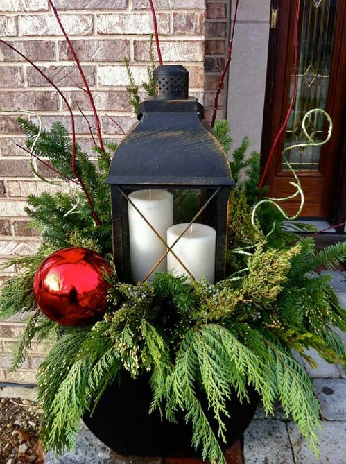 Oversized Ornament Lantern Planter