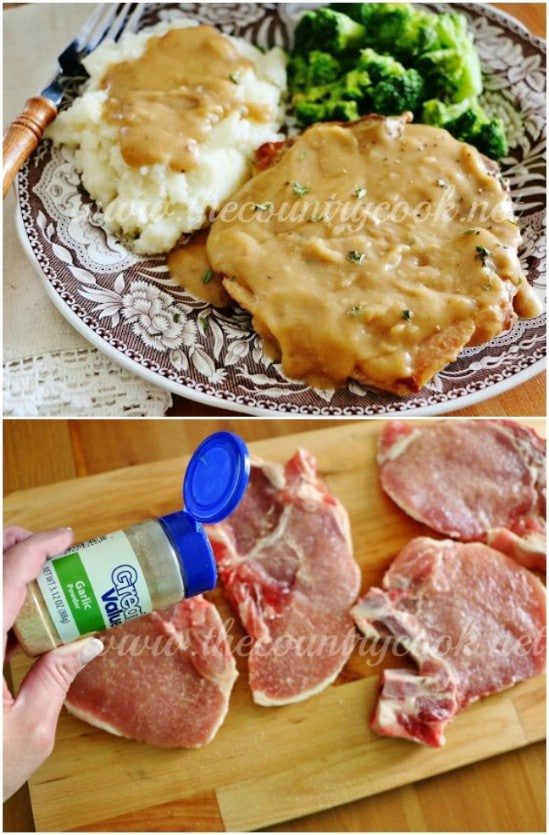 Smothered Crock Pot Porch Chops