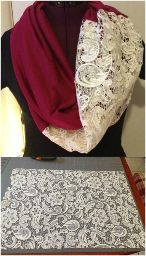 Hand Made Lace Infinity Scarf
