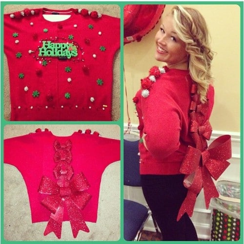 Rows Of Bows Ugly Christmas Sweater