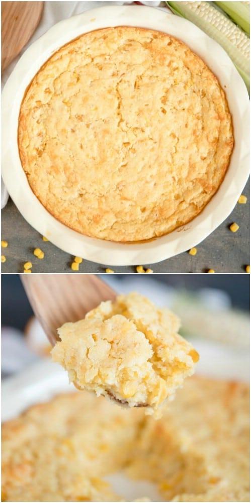 Homemade Creamy Cornbread Casserole
