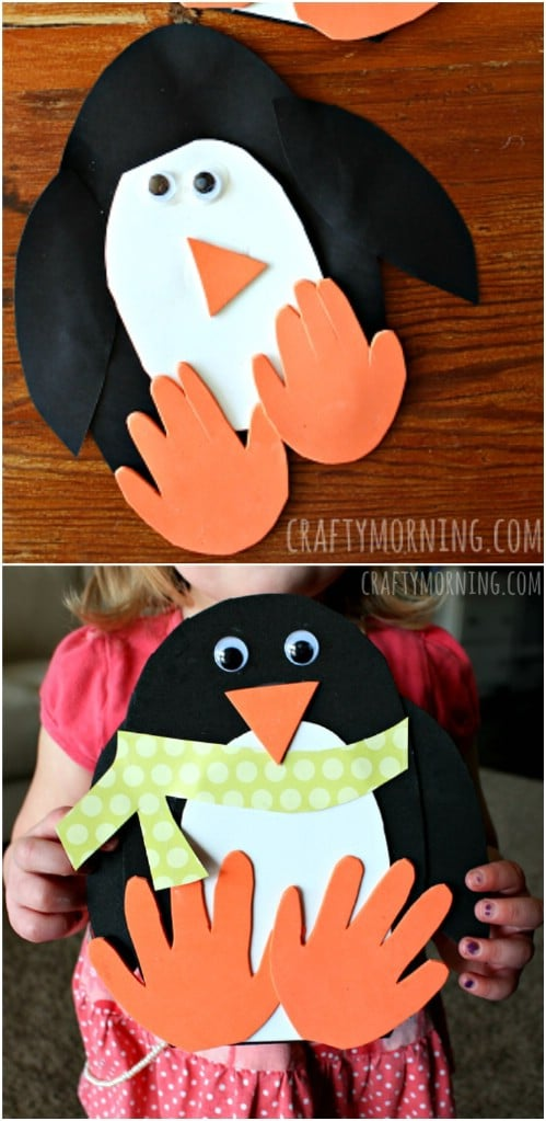 Handprint Penguin Craft