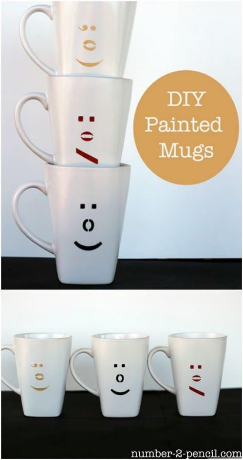 DIY Decorative Emoticon Mugs