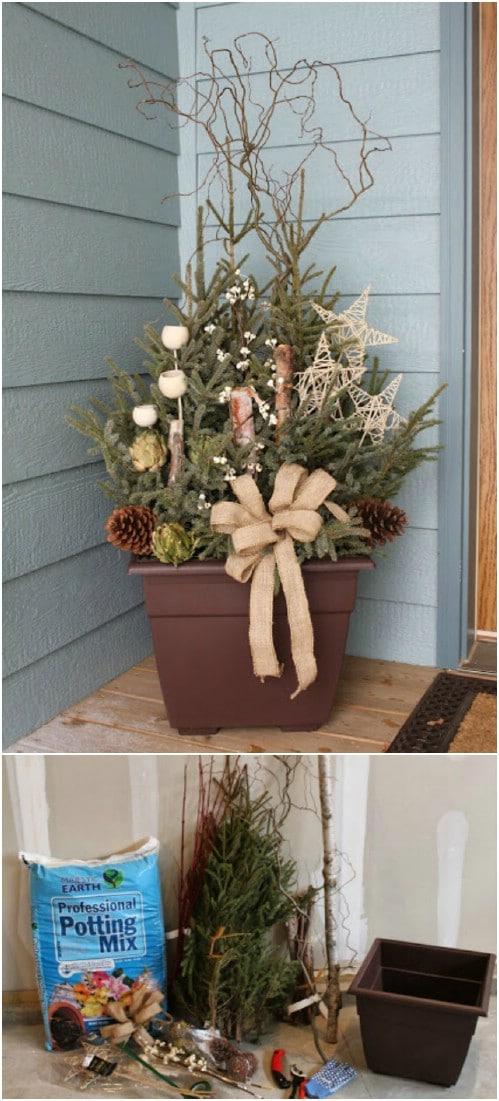 Rustic Pine Planter