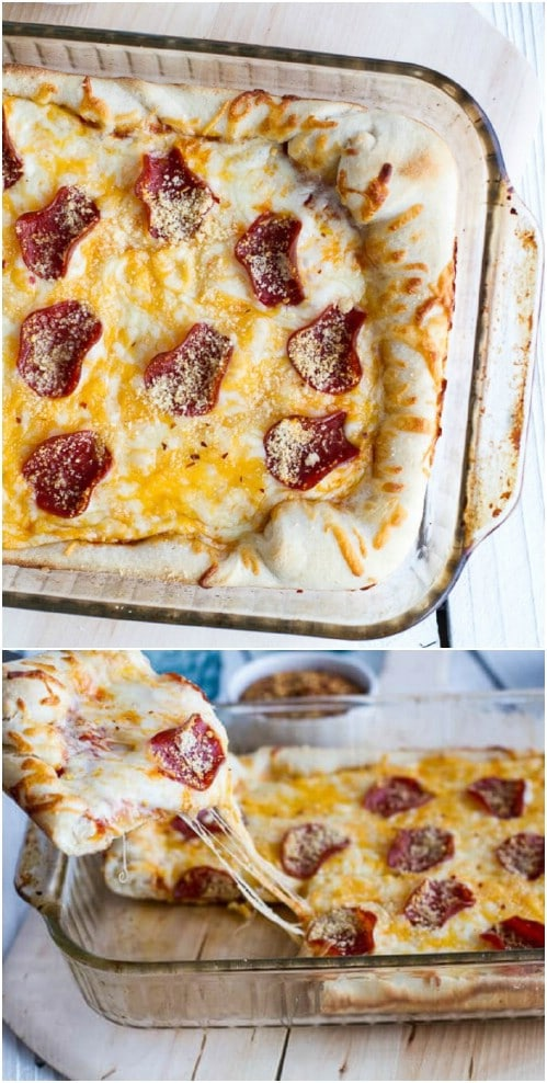 Yummy Deep Dish Pizza Casserole