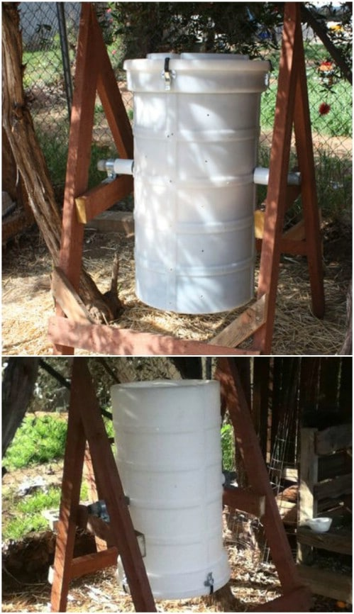 Easy DIY Compost Tumbler Bin