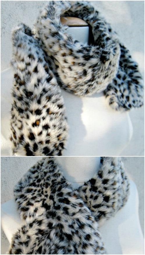 DIY Faux Leopard Fur Scarf